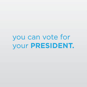 You can vote for your president