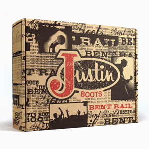 Package Design for Justin Bent Rail Boots Wins