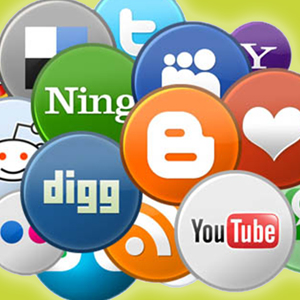 Icons of social media platforms