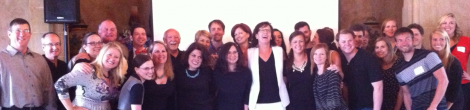 Carol and the team of coworkers from Balcom Agency