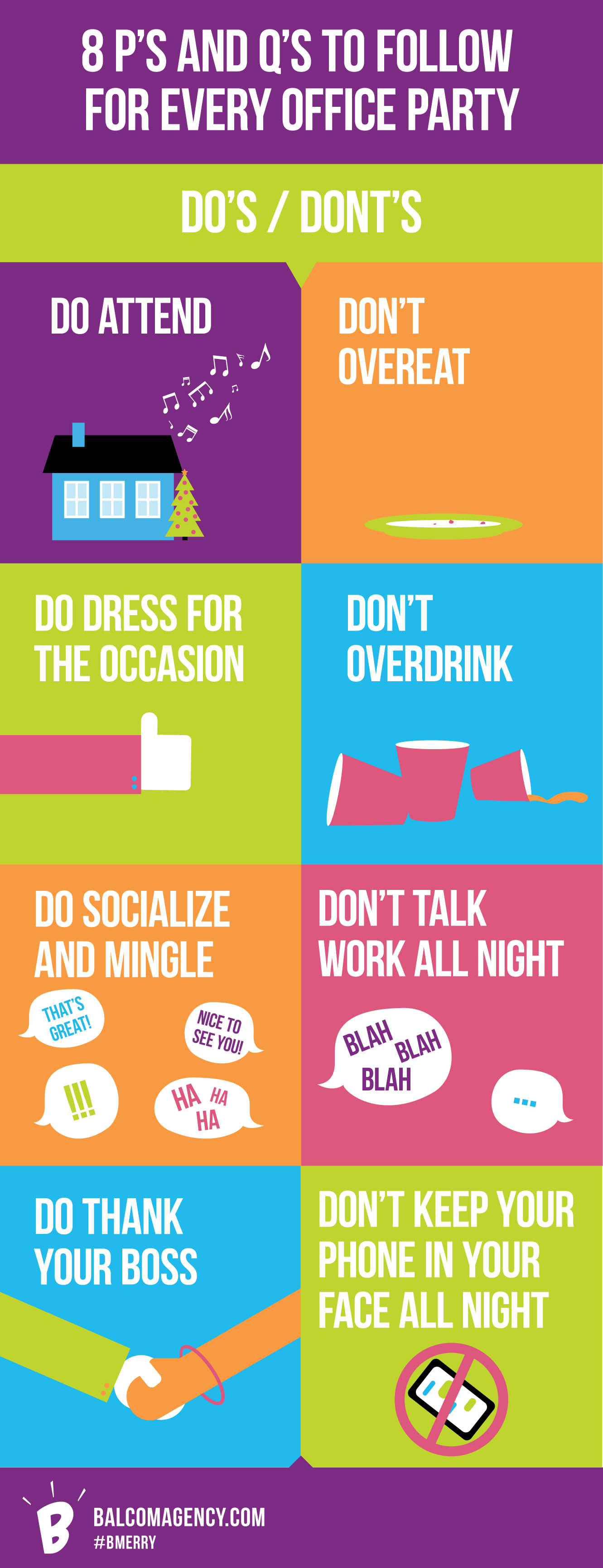 office party do's and don'ts infographic