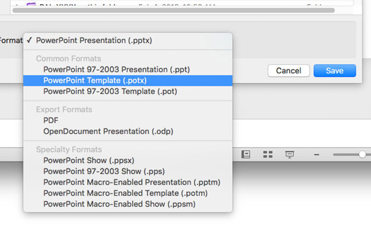 How to save a PowerPoint presentationss template  Super