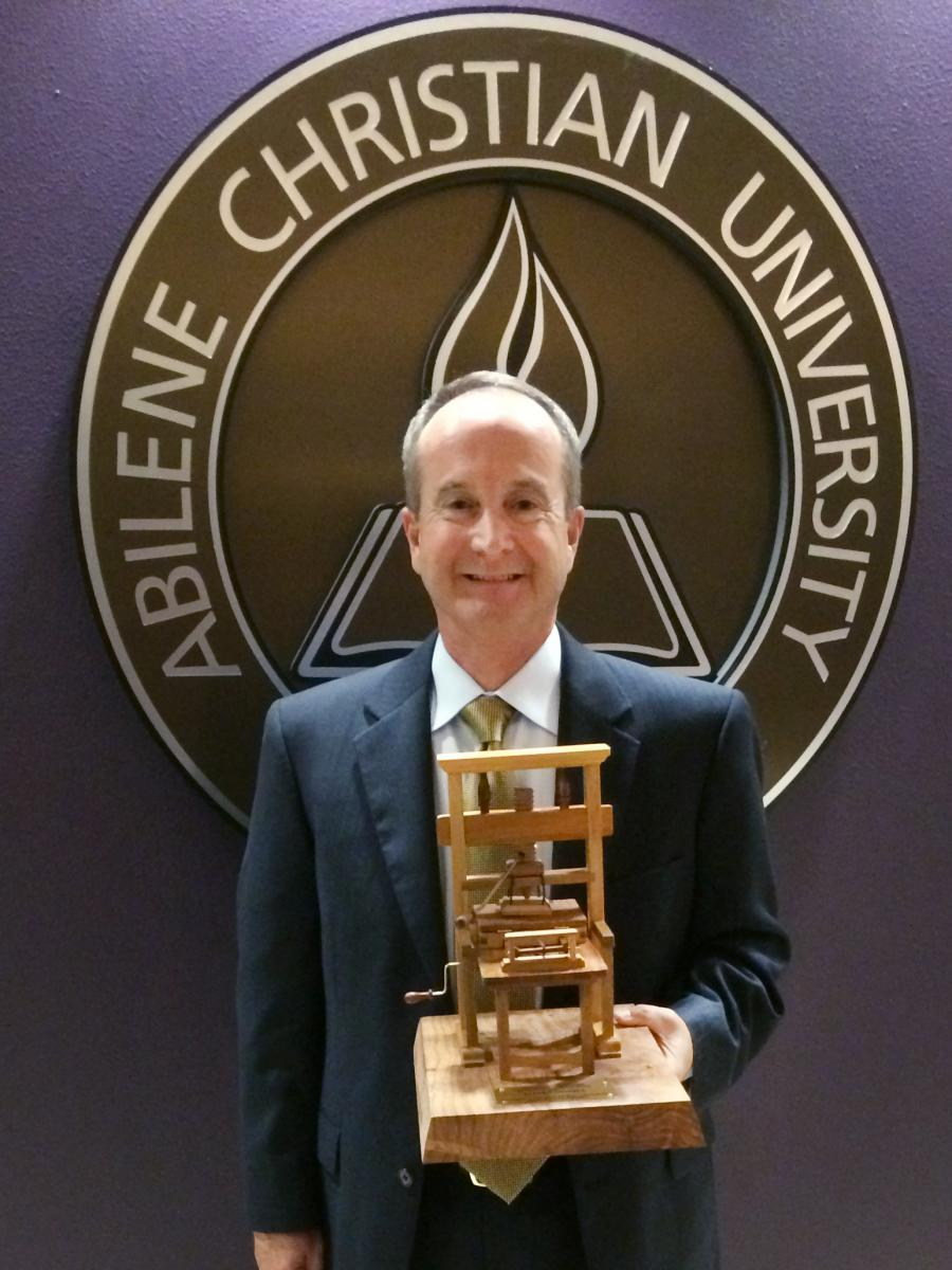Steve at Abilene Christian University for Gutenberg Award