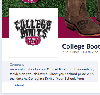 College Boots Facebook